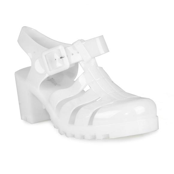 d10546c00fb Brash Caged Jelly Block Heels Women's Sandals Boutique